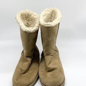 Kohl's women's faux fur boots.